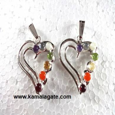 Heart Cut Stone Cabs Pendent