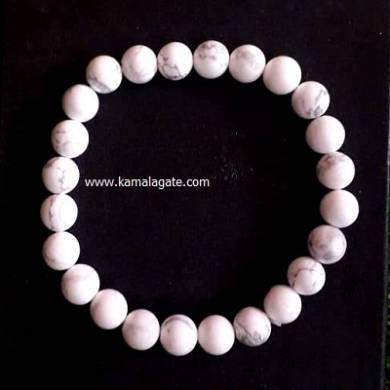 Howlite 8mm Beads Bracelet