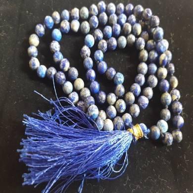 Lapiz Lazuli Natural Beads Jap Mala