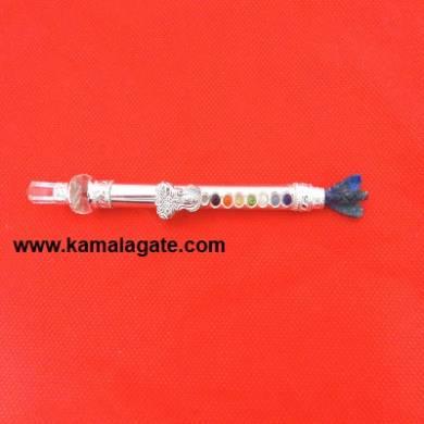 Lapiz Lazuli Angle With Chakra Metal Healing Stick