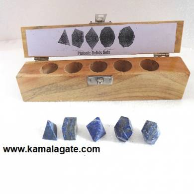 Lapiz Lazuli Five Pieces Geometry Sets With Wooden Box