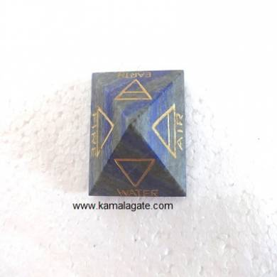 Lapiz Lazuli Engraved Four Elements