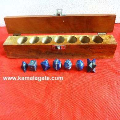 Lapiz Lazuli Seven Pieces Geometry Sets With Wooden Box