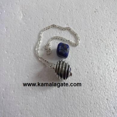 Lapiz Lazuli Spiral Necklaces