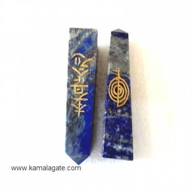 Lapiz Lazuli Engraved Reiki tower