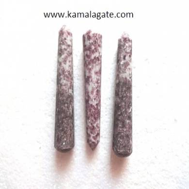 Lepetolite Faceted massage wands