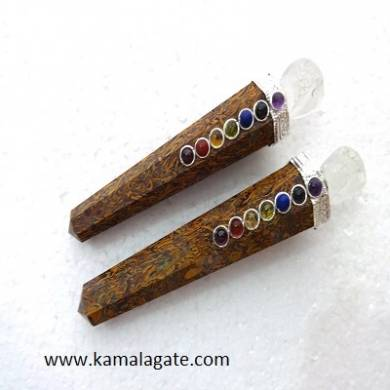 Miriyam Healing Wand With Crystal Skulls