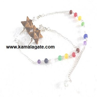 Miriyam Merkaba Star Pendulum With 7Chakra Chain