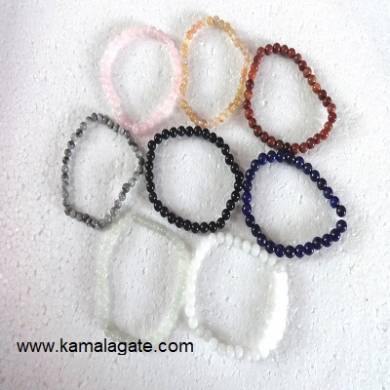 Mix Stone Gemstone Beads Elastic Bracelets