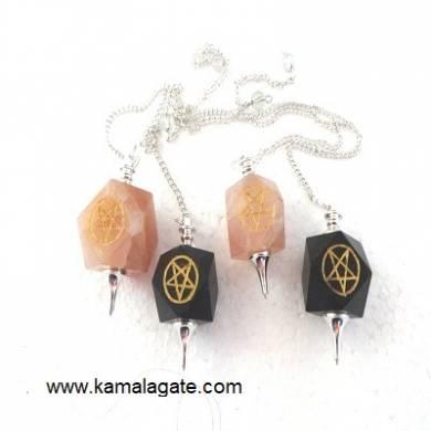 Mix Stone Pentagram Pendulum