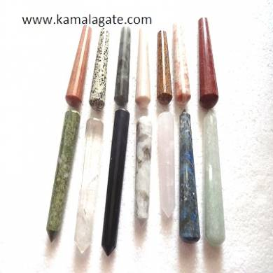 Mix Gemstone Faceted Massage Wands