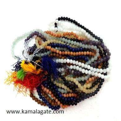 Gemstone 6mm Stone Beads Jap Mala Prayer beads