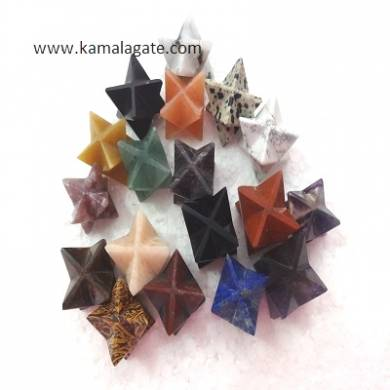 Mix Stone Merkaba Stars
