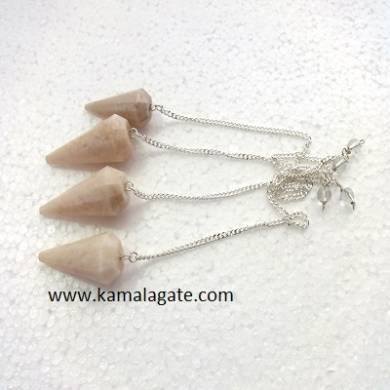Moonstone Faceted pendulums