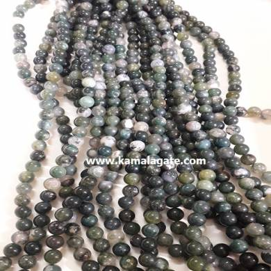 Moss Agate 8 mm Loose Beads For Jewelry Making