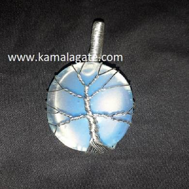 OpaliteTree Of Life Wire Wrap Pendant