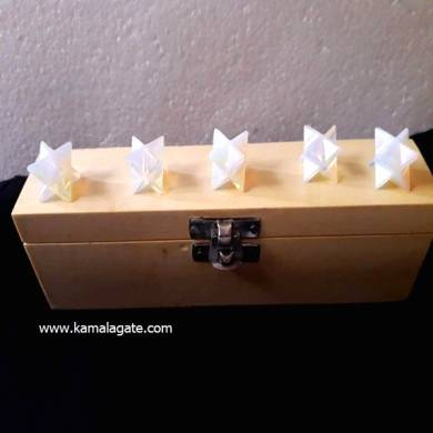 Opelite Merkaba Star Five Pieces Geometry Sets With Wooden Box