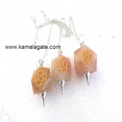 Orange Aventurine Pentagram pendulums