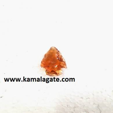 Orange Natural Color Glass Arrowhead