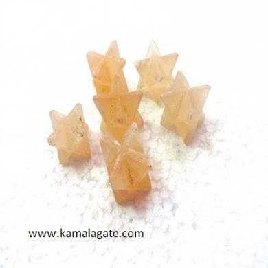 Orange Senolite Merkaba Stars