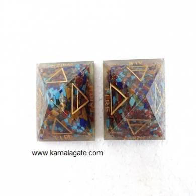 Orgone Pyramid Engraved Four Elements
