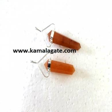 Peach Aventurine Double Point Pencil Pendent