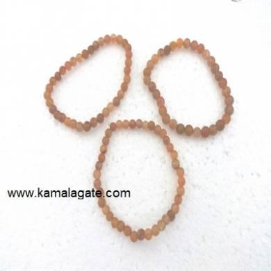 Peach Aventurine Gemstone Beads Elastic Bracelets