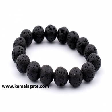 Gemstone Plain Lava Stone Bracelets