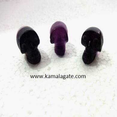 Purple Flourite skulls