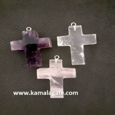 R.A.C Gemstone Cross Pendant Sets