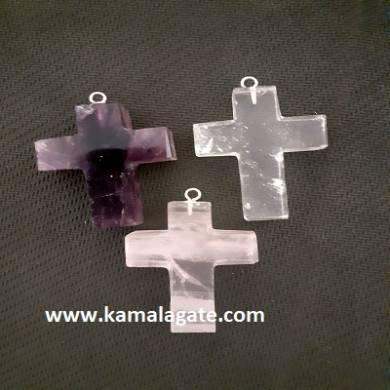R.A.C Gemstone Cross Pendant Sets