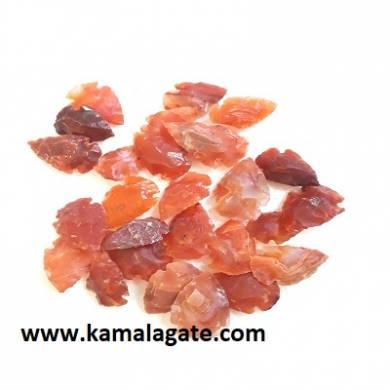 Red Cardelian Gemstone Arrowheads 1inch