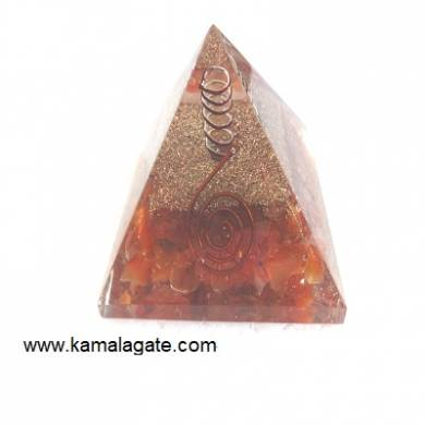 Red Cardelian Orgone Pyramid With Quartz Point [Big]
