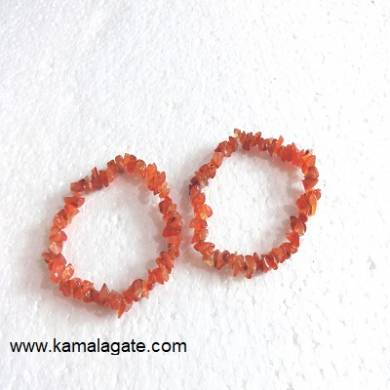 Red Cardelian Chips Bracelets