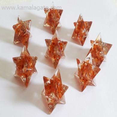 Red Cardelian Orgone Star