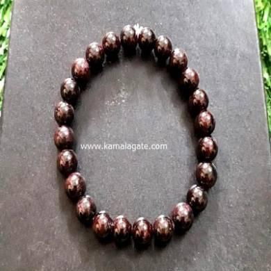 Red Garnet 8mm Beads Bracelet