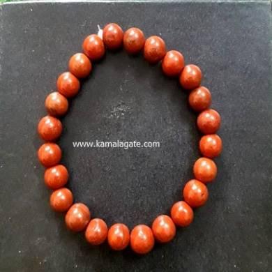 Red Jasper 8mm Beads Bracelet