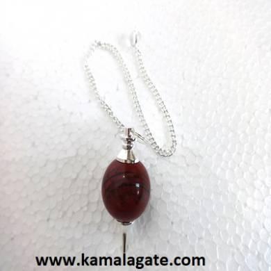 Red Jasper Ball Pendulum (Silver)