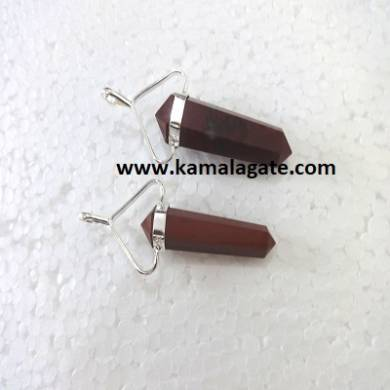 Red Jasper Double Point Pencil Pendent