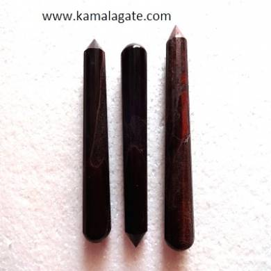 Red Tiger Faceted Massage Wands