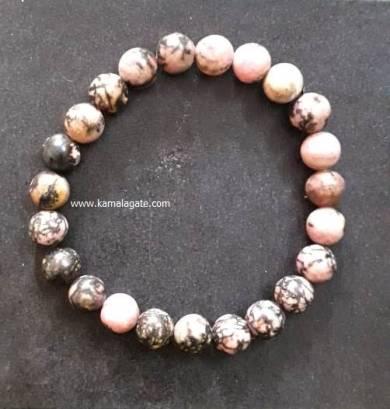 Rhodonite 8mm Beads Bracelet