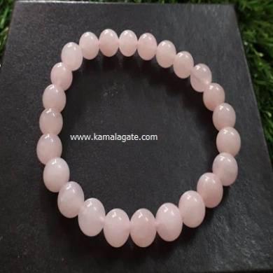 Rose Quartz 8mm Beads Bracelet
