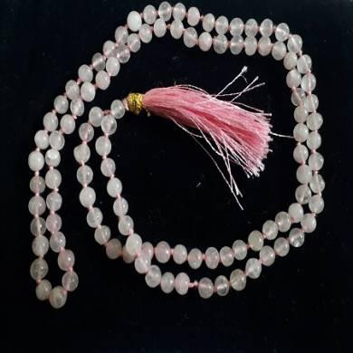 Rose Quartz Natural Beads Jap Mala