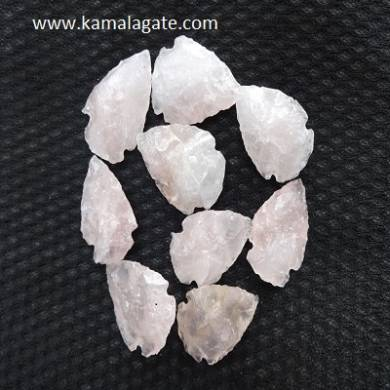 Rose Quartz Gemstone  Arrowheads 1 inch