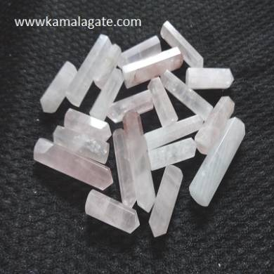 Rose Quartz Single terminated pencile point
