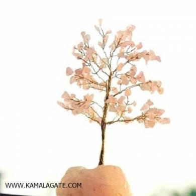 Rose quartz Gemstone Tree with Gemstone Roots