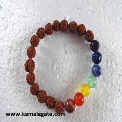 Rudhrakhs Plain Elastic Chakra Bracelets