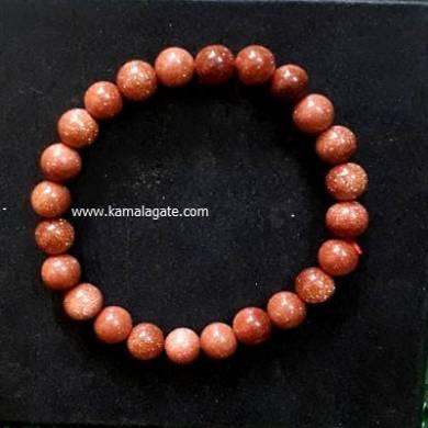 Sand Stone 8mm Beads Bracelet