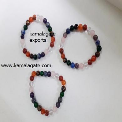 7 chakra Gemstone Beads Elastic Bracelets