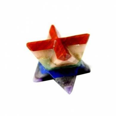 Seven Chakra Bonded Merkaba Star